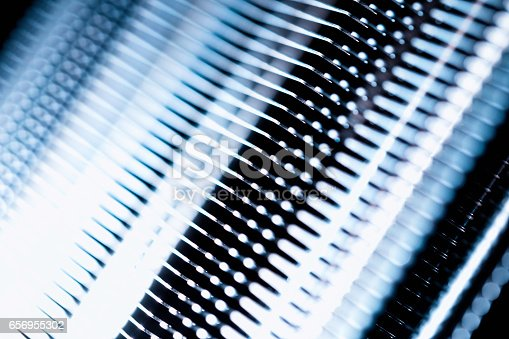 istock blue, shine, metal texture with aluminium cooling fins 656955302