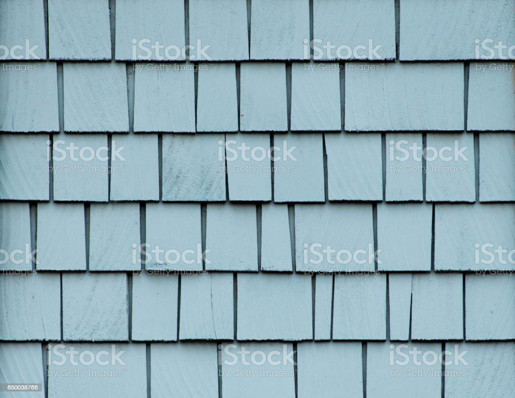 Blue Shingles Wall stock photo