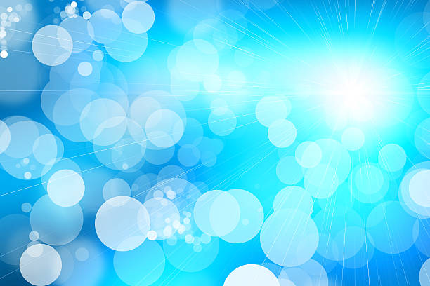 Blue Shiny Abstract Background stock photo