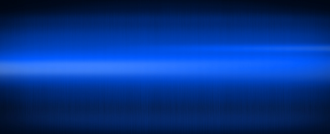 Blue shiny brushed metal. Banner background texture wallpaper