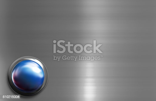 istock Blue shiny button with metallic elements 510215008