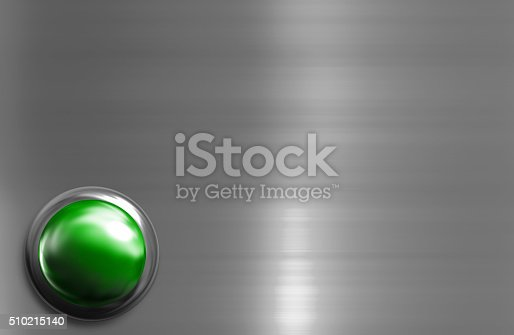 istock Blue shiny button with metallic elements 510215140