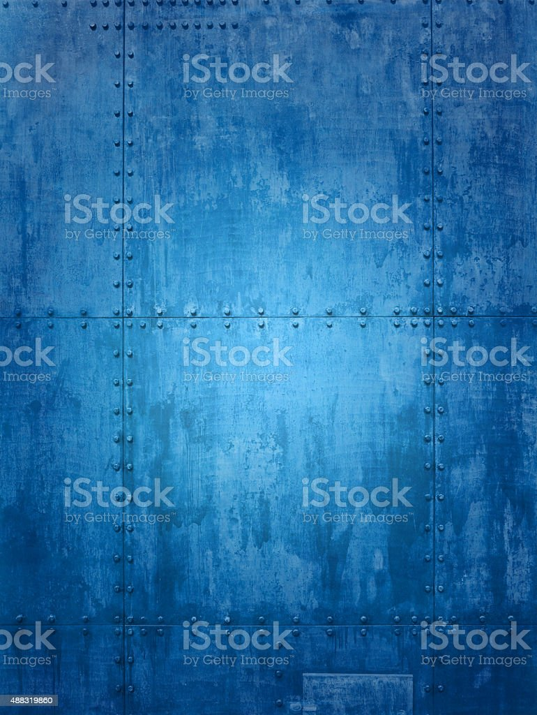 Blue ship texture stock photo