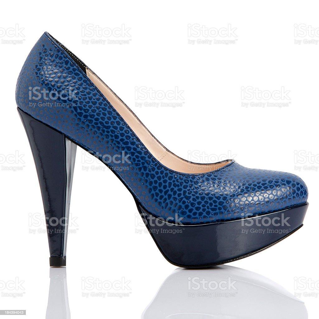 blue shoe royalty-free stock photo