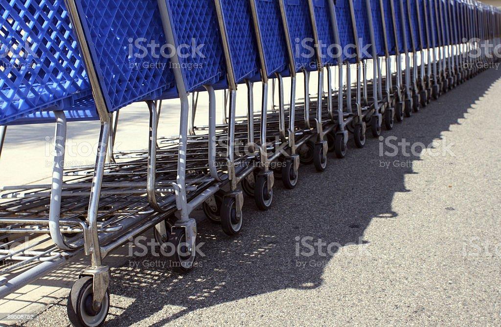 Blue Shopping Carts royalty-free stock photo