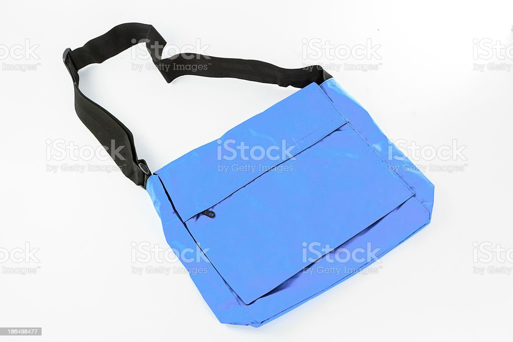 blue Shoulder bag isolate royalty-free stock photo
