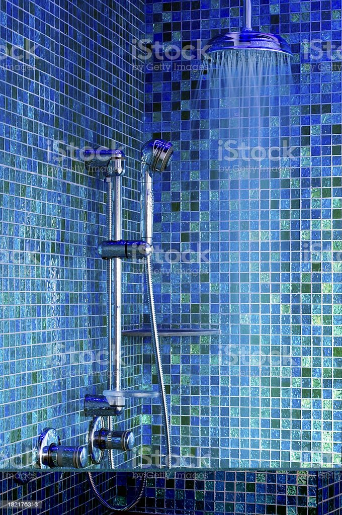 Blue Shower royalty-free stock photo