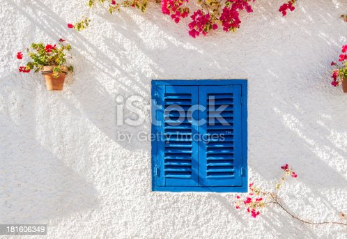 istock Blue Shuttered Window 181606349