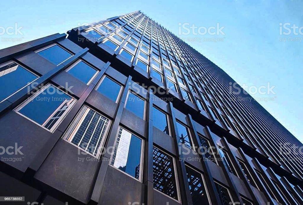 Blauwe zijde naar boven - Royalty-free Architectuur Stockfoto