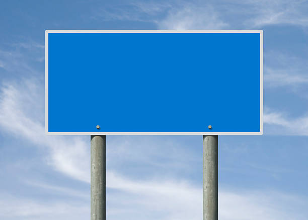 Blue sign stock photo