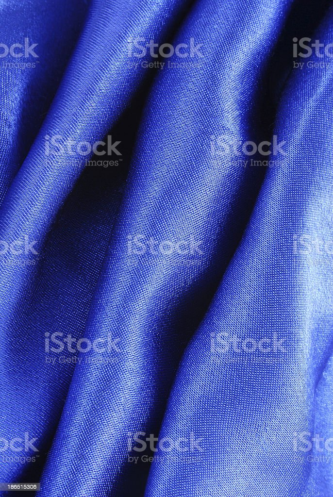 blue silk fabric texture royalty-free stock photo