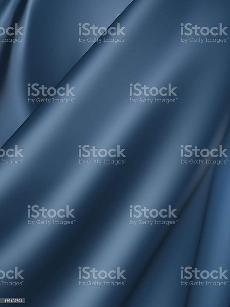 Blue silk royalty-free stock photo