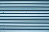 Blue silver corrugated metal background