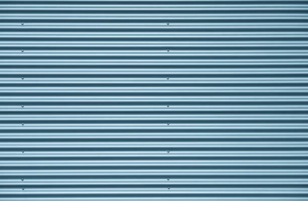 Blau Silber Wellpappe Metall Hintergrund – Foto