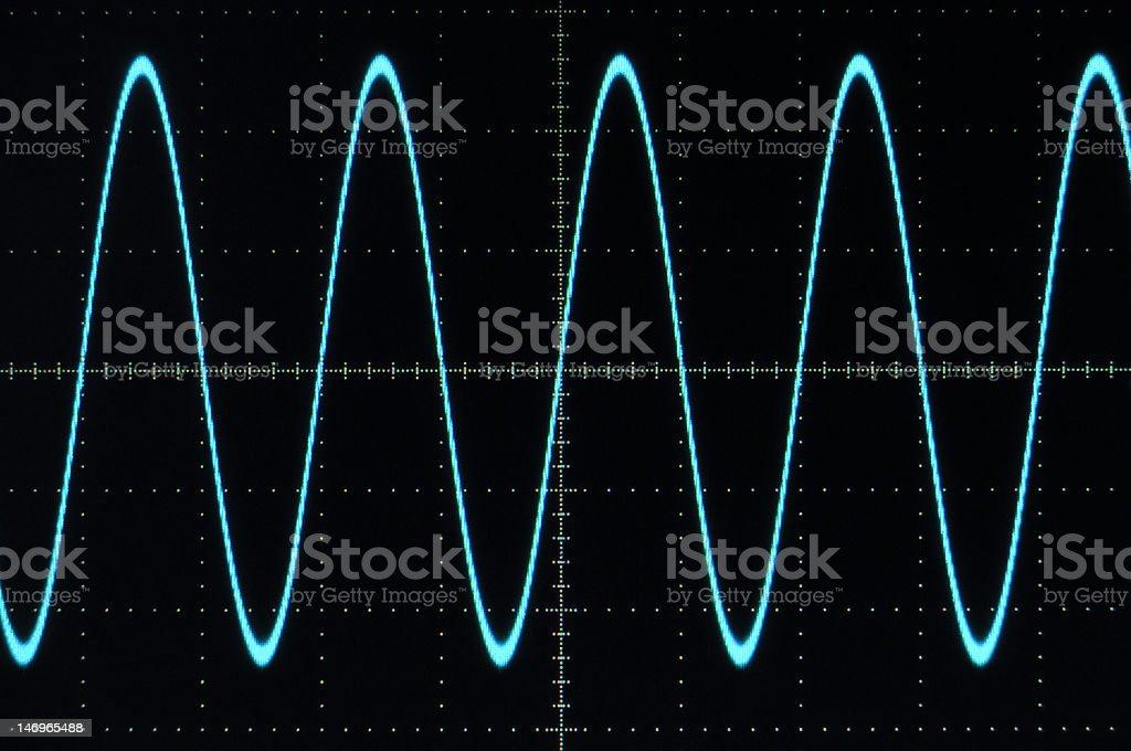 Blue sine wave stock photo