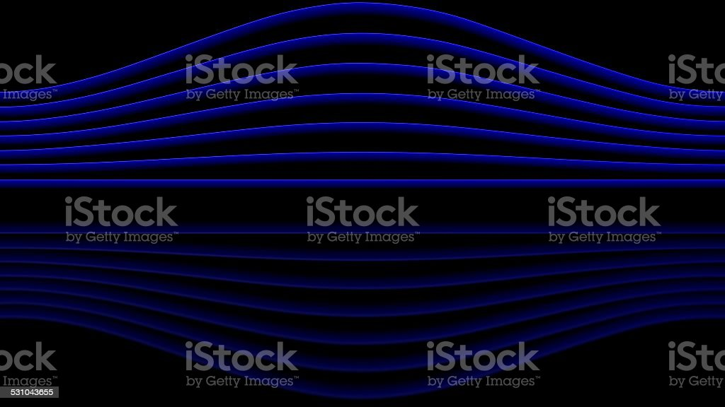 Blue sinewaves stock photo