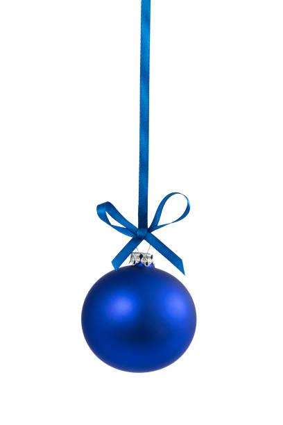 blue single bauble 1 stock photo
