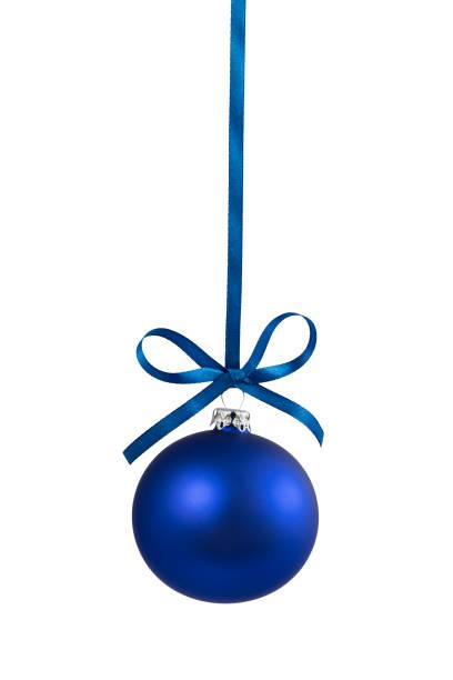 blue single bauble 3 - bombka zdjęcia i obrazy z banku zdjęć
