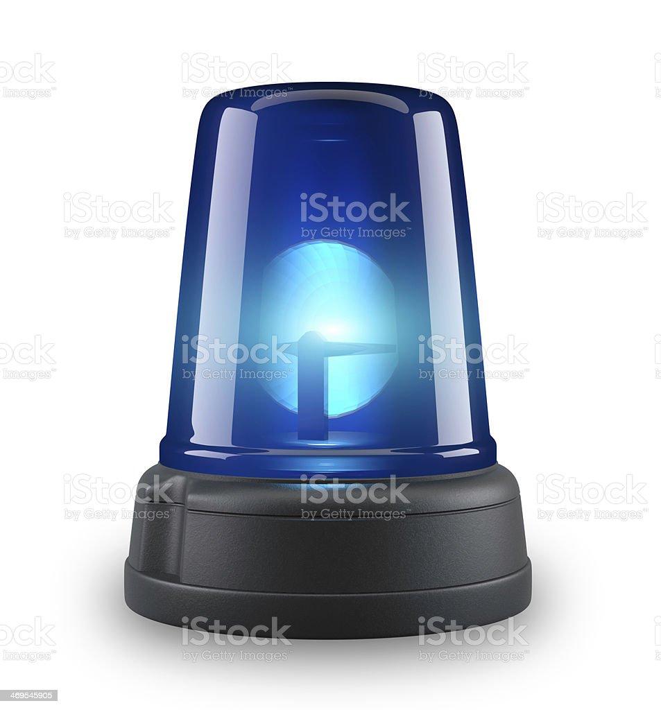 Blue siren stock photo