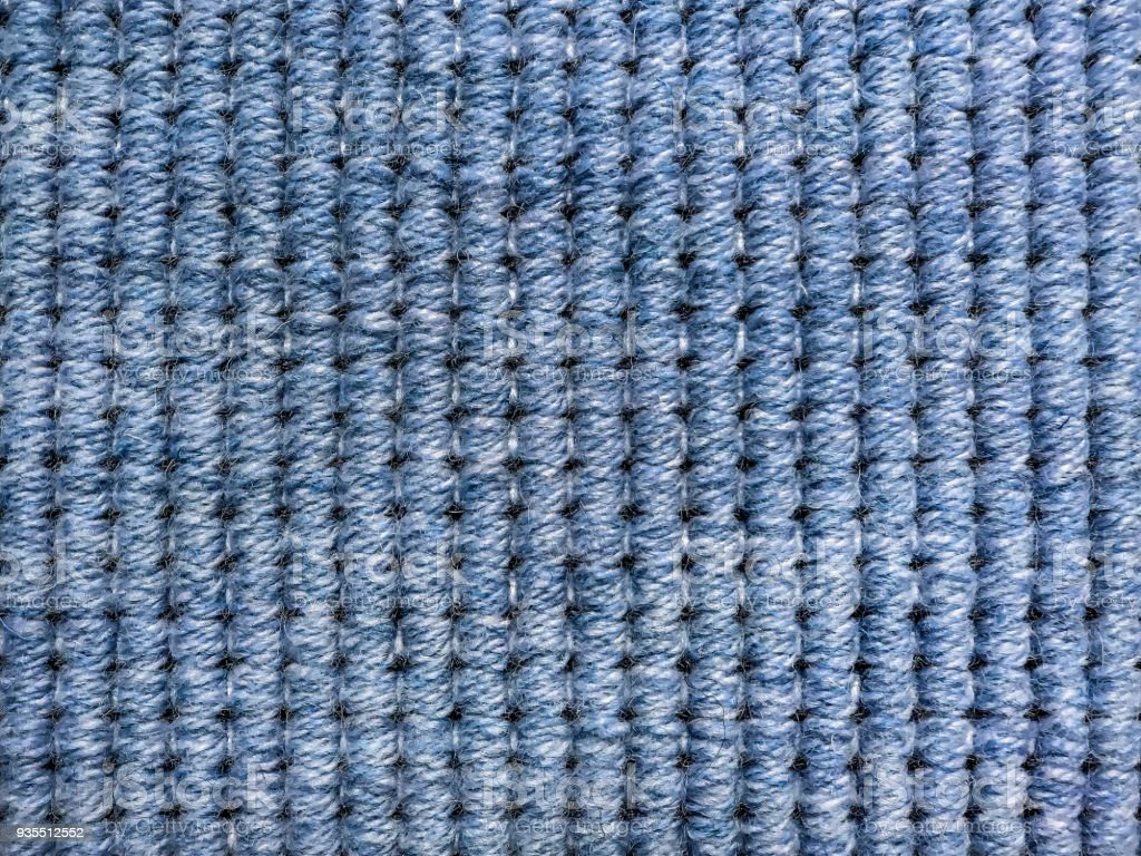 Blue Sisal Carpet Textured Royalty Free Stock Photo