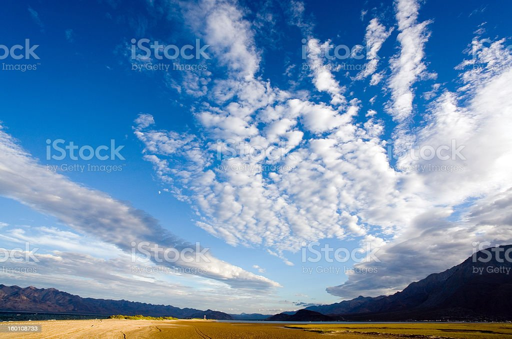 Blue skies stock photo