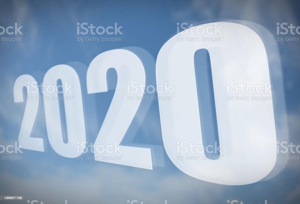 Blue Sky 2020 stock photo