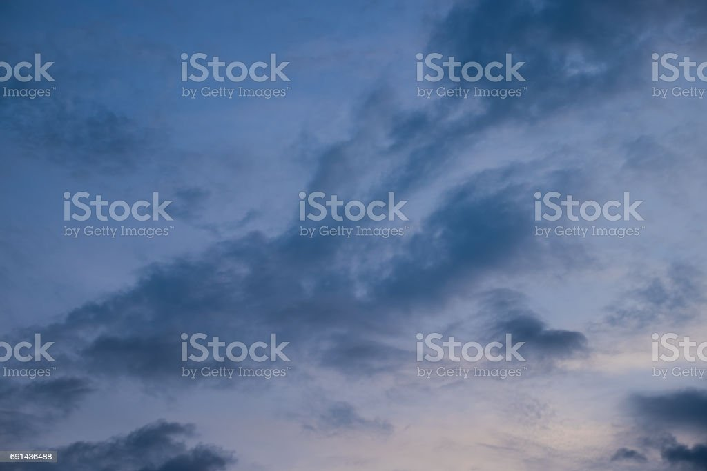 blue sky after dusk stock photo