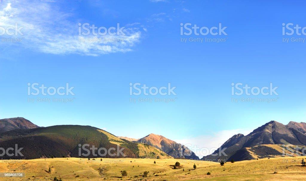Blue Sky and Absaroka Mountains - Royalty-free Absaroka Range Stock Photo