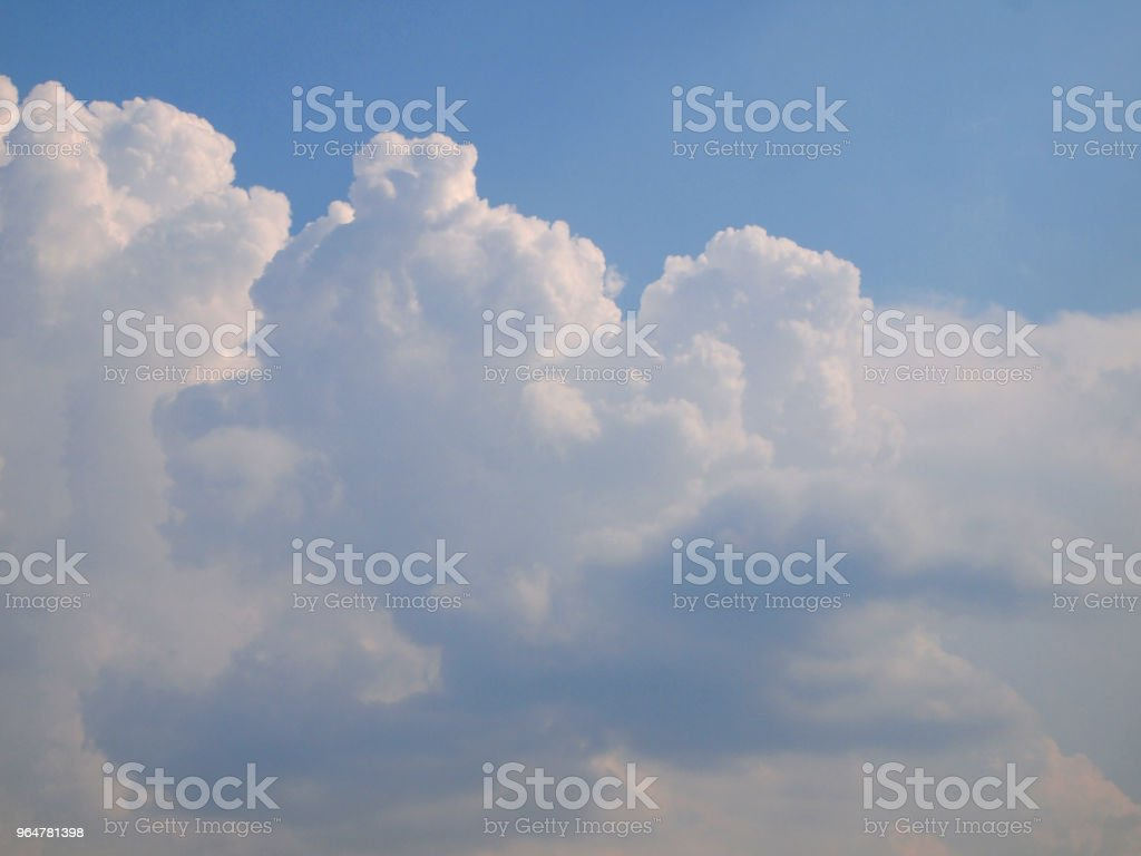 blue sky and beautiful clouds royalty-free stock photo