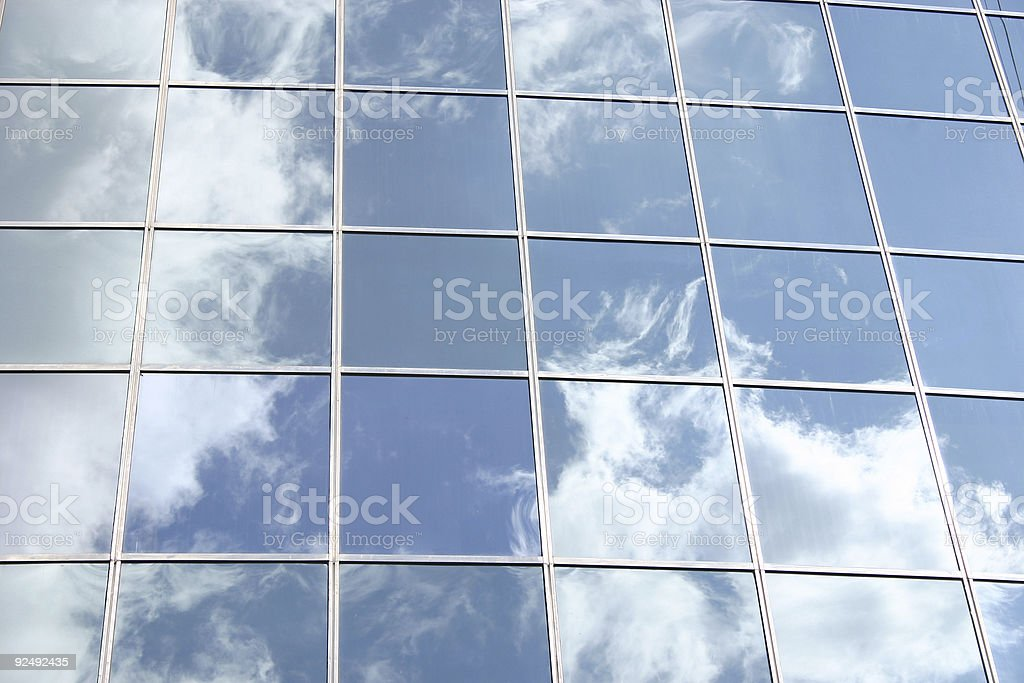 Blue sky and building royalty-free stock photo