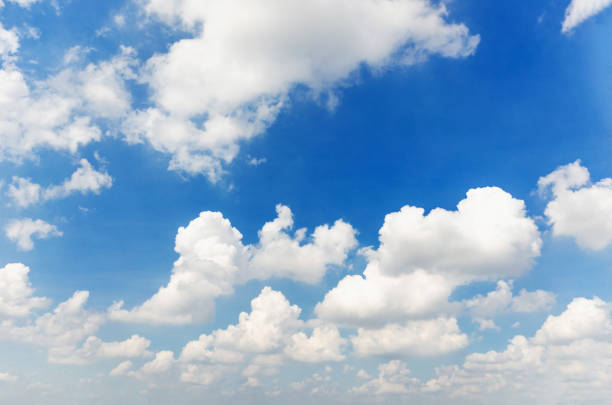 blue sky and cloud beautiful natural background. - clouds imagens e fotografias de stock