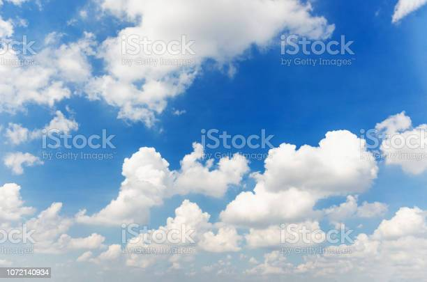 Photo of blue sky and cloud beautiful natural background.