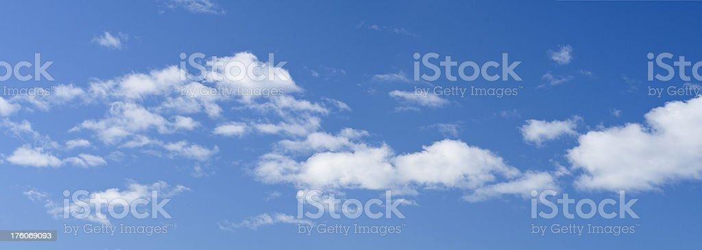 Blue Sky and Cloud Panorama stock photo