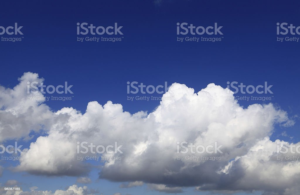 Blue sky and cloud royalty-free stock photo