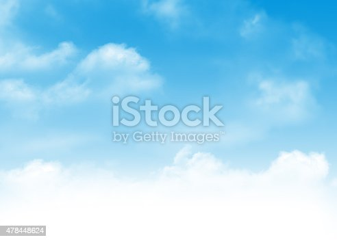 istock Blue sky and clouds background 478448624