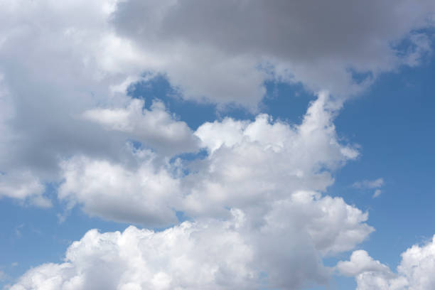 Blue sky and clouds. stock photo