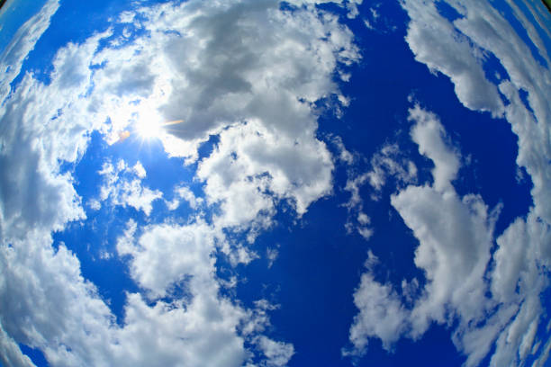 Blue sky and clouds Blue sky and clouds fish eye lens stock pictures, royalty-free photos & images