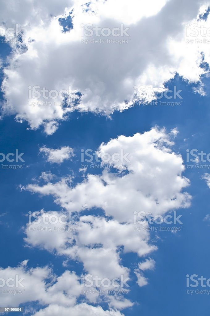 blue sky and clouds XL royalty-free stock photo