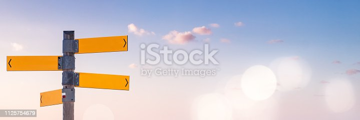 istock Blue Sky and Directions 1125754679
