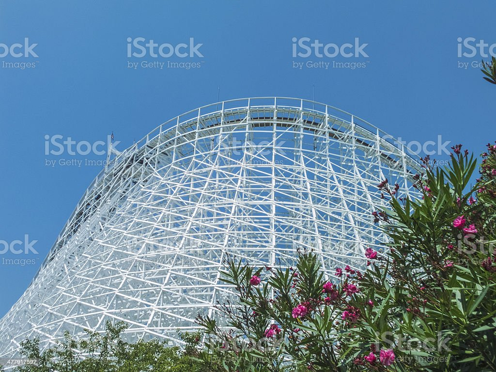 blue sky and high coaster royalty-free stock photo