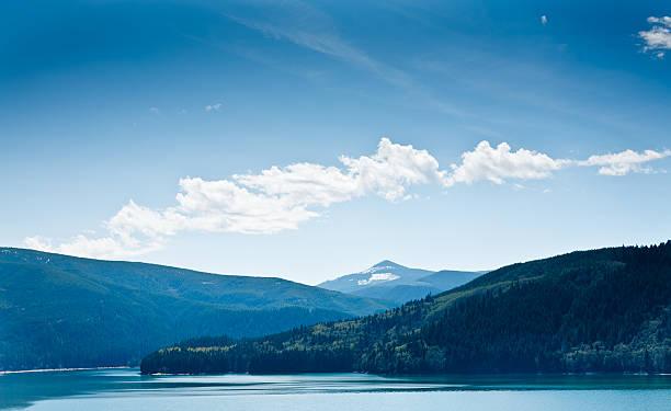 Blauer Himmel, Landschaft und See – Foto