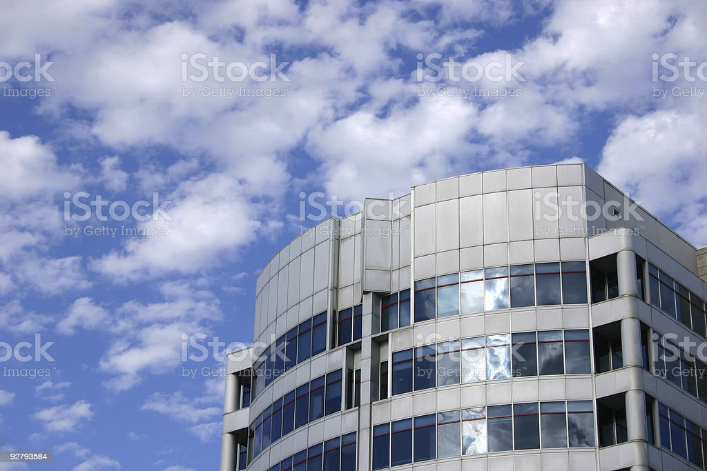 Blue sky and modern building royalty-free stock photo