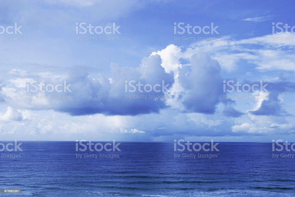 Blue Sky and Ocean Horizon royalty-free stock photo