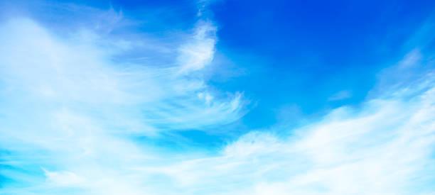 Blauer Himmel und weiße Wolken (Panorama – Foto