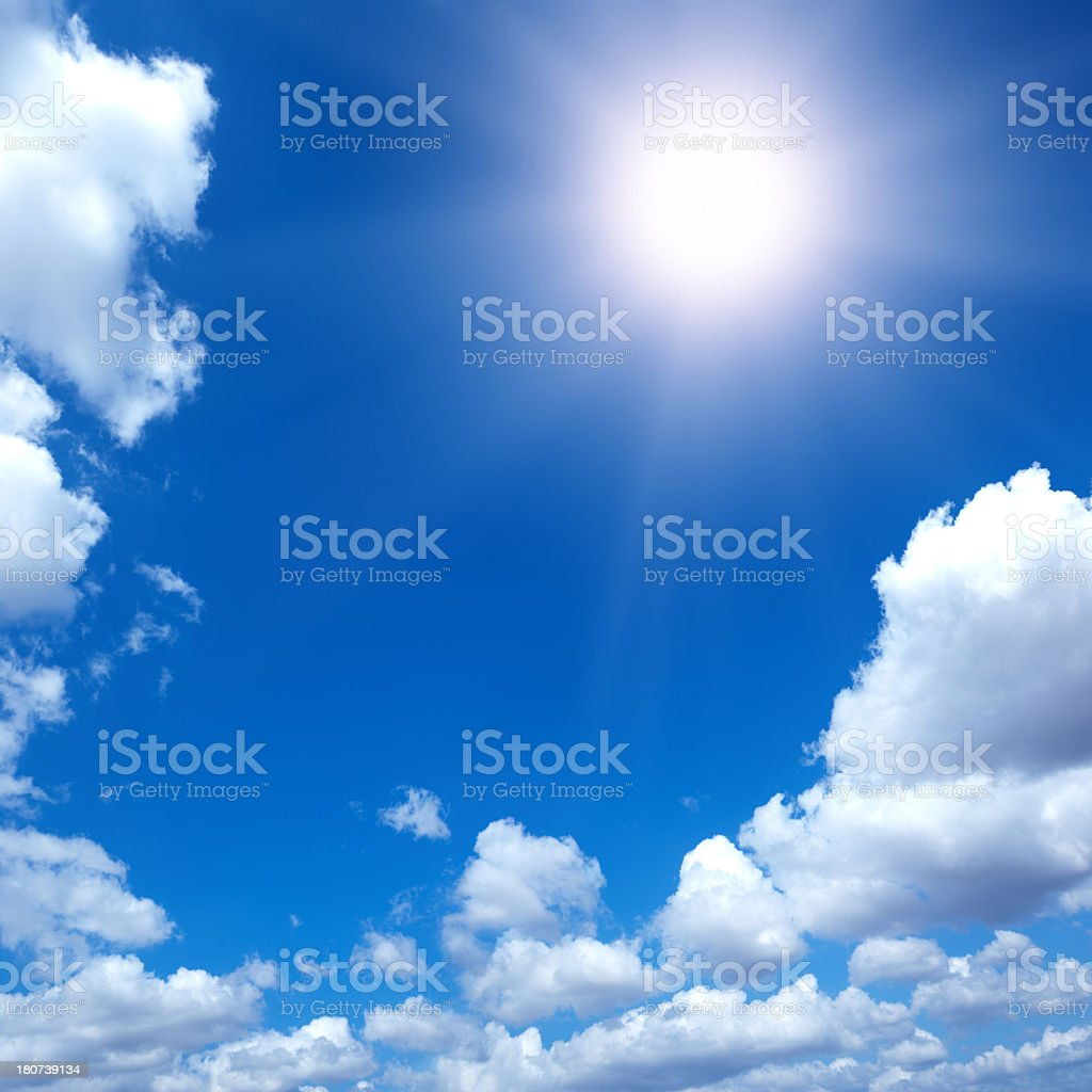 Blue Sky and sun royalty-free stock photo