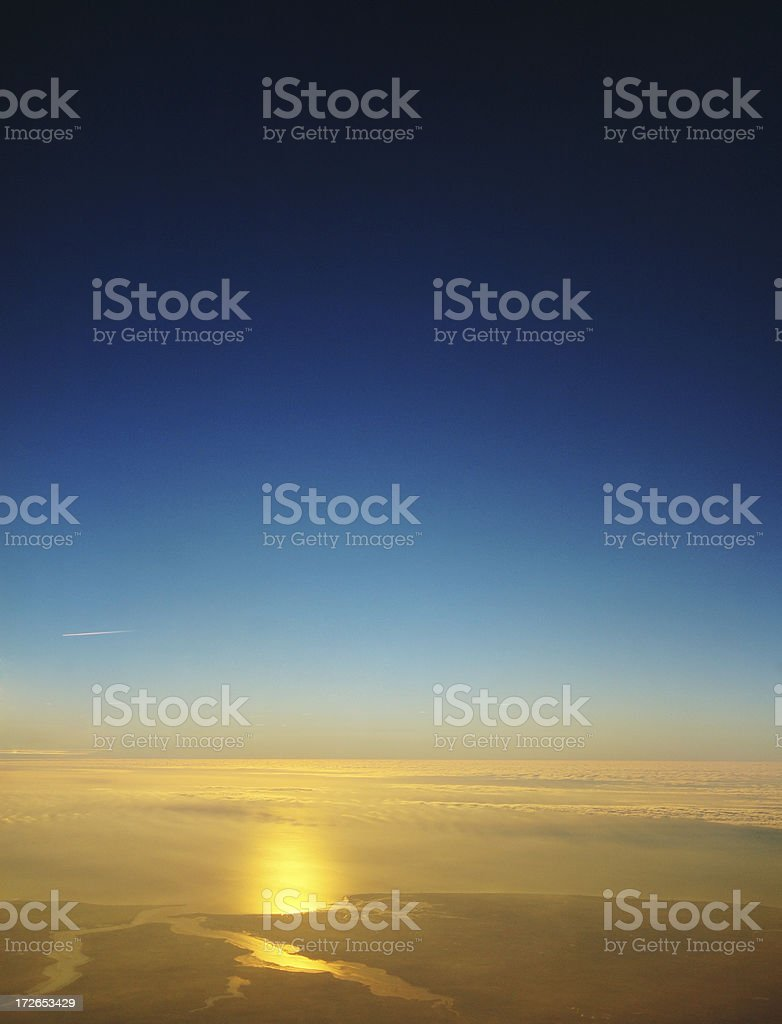 blue sky and sunrise royalty-free stock photo