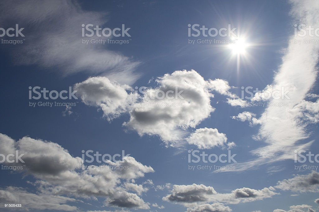 Blue sky and sunshine royalty-free stock photo