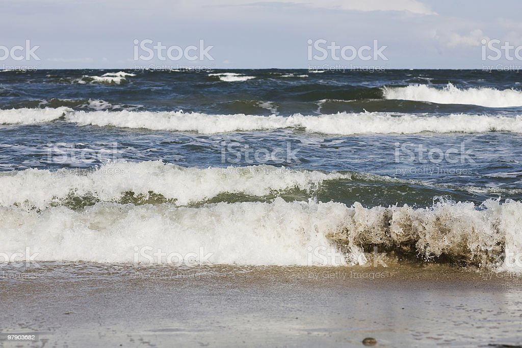Blue sky and surf royalty-free stock photo