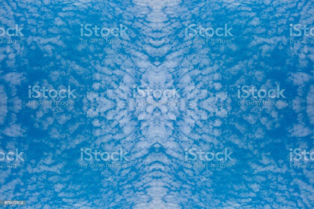 ciel bleu et petits nuages sur fond de nature magnifique texture perspective photo libre de droits