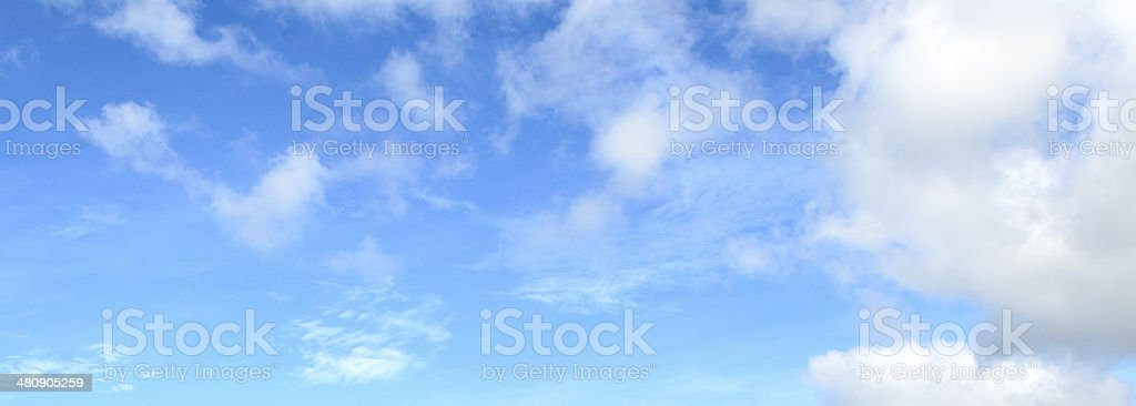 blue sky and white cloud background royalty-free stock photo